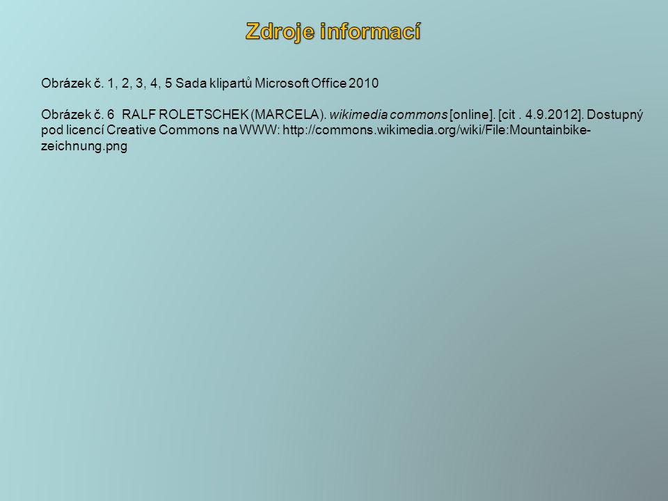 Obrázek č. 1, 2, 3, 4, 5 Sada klipartů Microsoft Office 2010 Obrázek č.