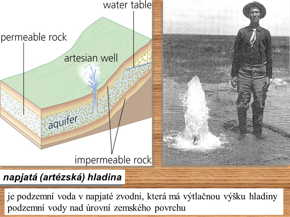 napjatá (artézská) hladina je podzemní voda v napjaté zvodni, která má výtlačnou výšku hladiny podzemní vody nad úrovní zemského povrchu