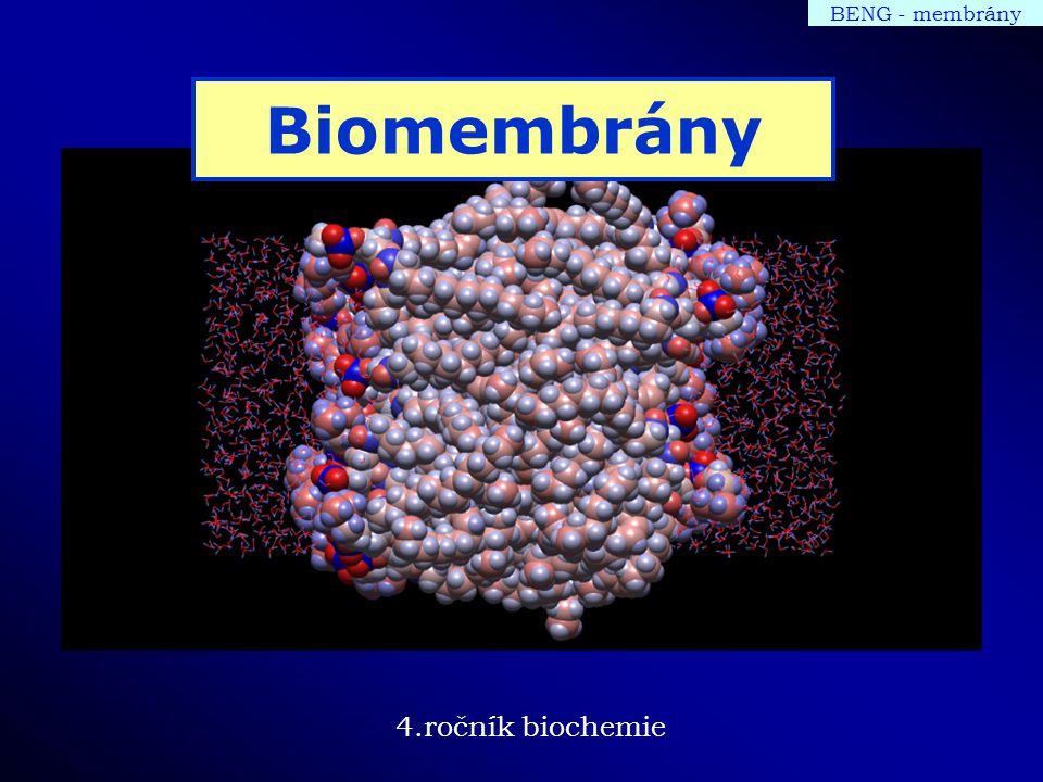 4.ročník biochemie BENG - membrány Biomembrány