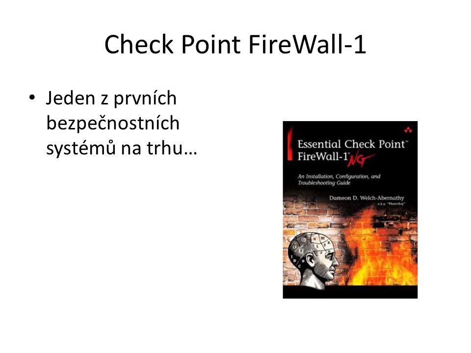 Check Point FireWall-1 Jeden z prvních bezpečnostních systémů na trhu…
