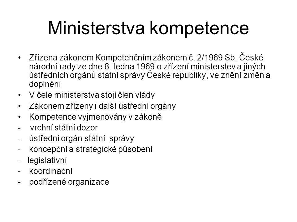 Další útvary Obslužné útvary IT Hospodářská správa Personální oddělení Krizové řízení Zahraniční protokol
