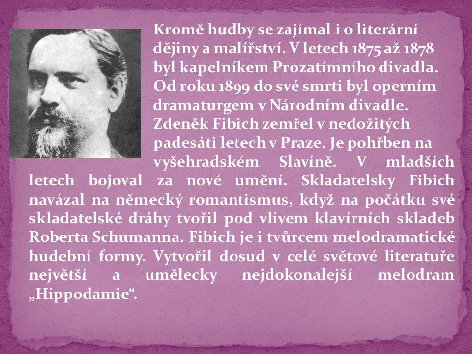 Kromě hudby se zajímal i o literární dějiny a malířství. V letech 1875 až 1878 byl kapelníkem Prozatímního divadla. Od roku 1899 do své smrti byl oper