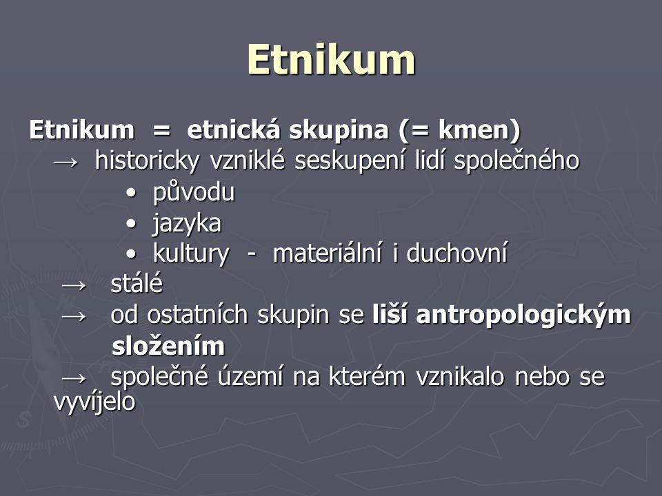 etnografie x etnogeografie etnografie: = národopis ► věda, která se zabývá hmotnou a duchovní lidovou kulturou národů, národností, etnických skupin atp.