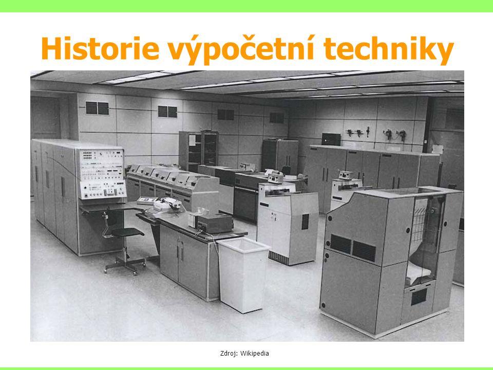 Sálové počítače EPOS SAPO URAL TESLA 200 (cca 1974, multiprocessing, I/O spooling) JSEP (EC 1021, …, EC 1027 (DOS 3, DOS 4)) Zdroj: Wikipedia Historie výpočetní techniky