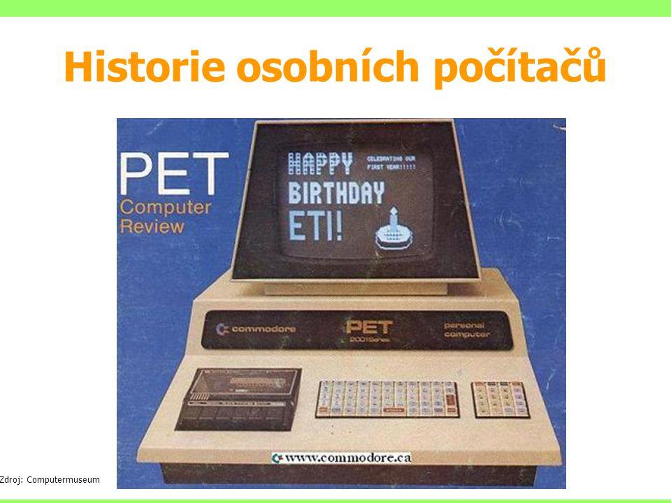 Zdroj: Computermuseum Historie osobních počítačů