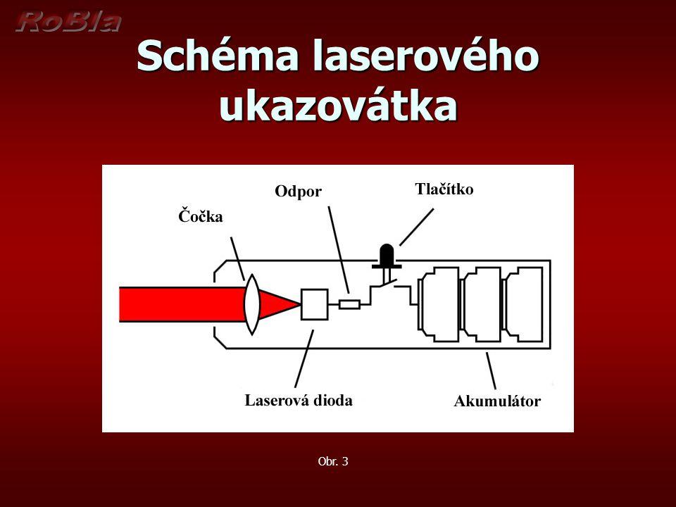 Schéma laserového ukazovátka Obr. 3