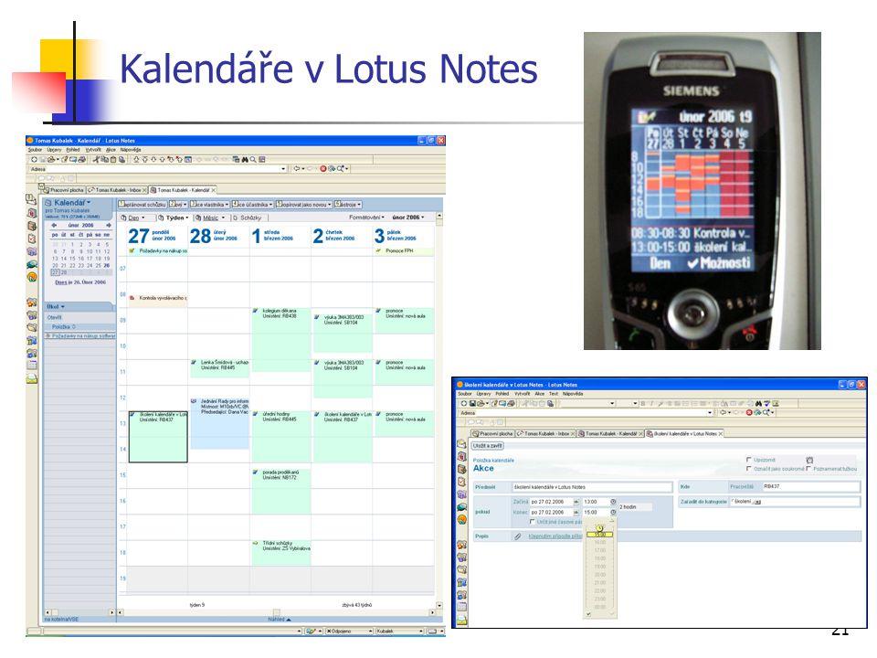 21 Kalendáře v Lotus Notes