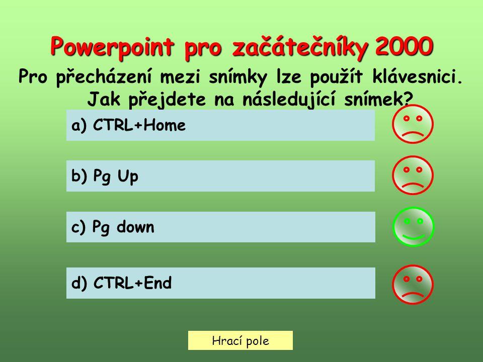 Hrací pole Powerpoint pro začátečníky 3000 Jaký způsob použijete, chcete-li prezentaci uložit do jiné složky.