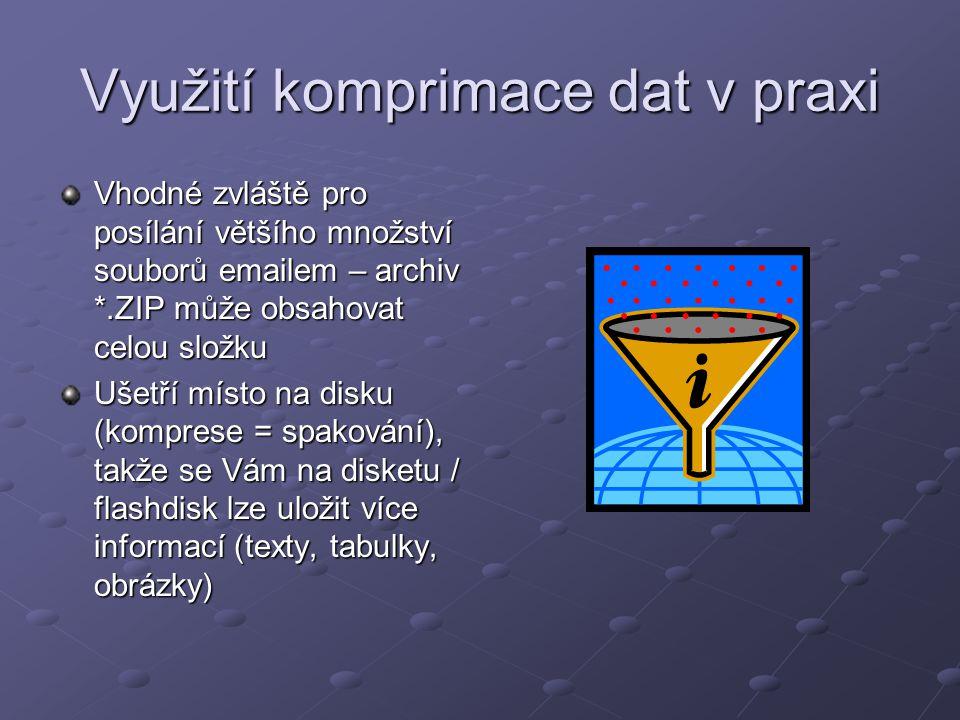 Software Můžete si nainstalovat freewarové programy Win ZIP, Win RAR nebo Ultimate ZIP Nebo používat osvědčený program na správu souborů Windows / Total Commander