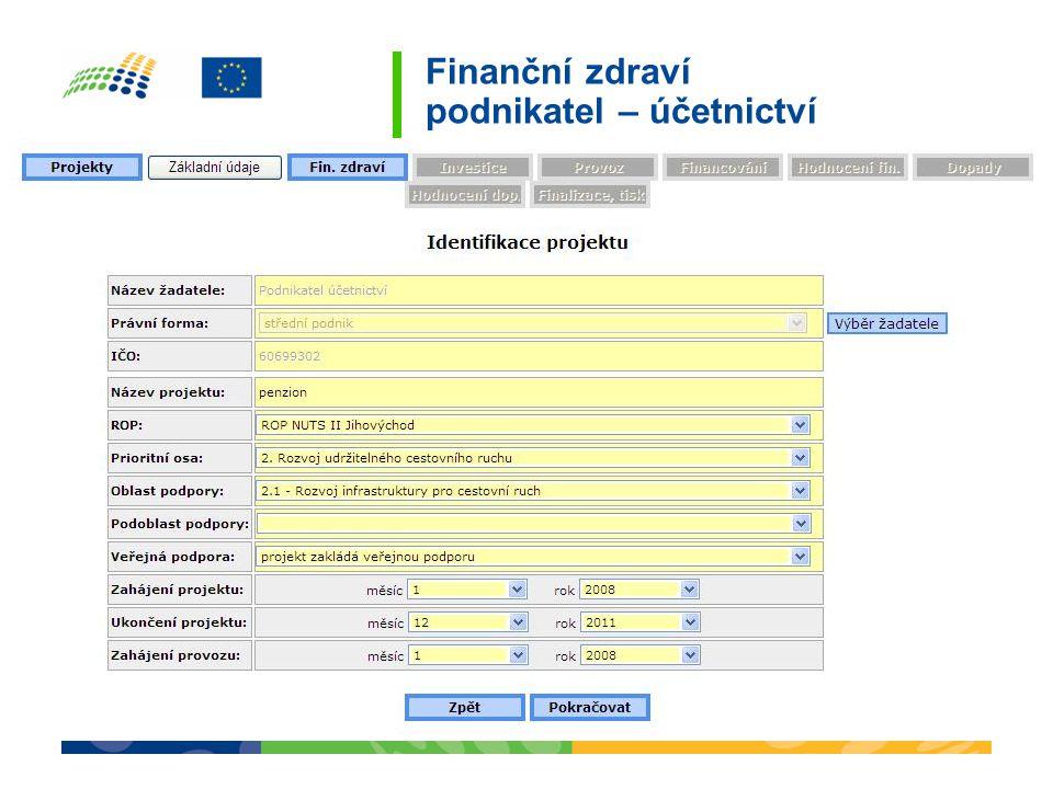 Finanční zdraví podnikatel – účetnictví