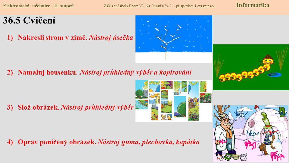 36.5 Cvičení Elektronická učebnice - II.