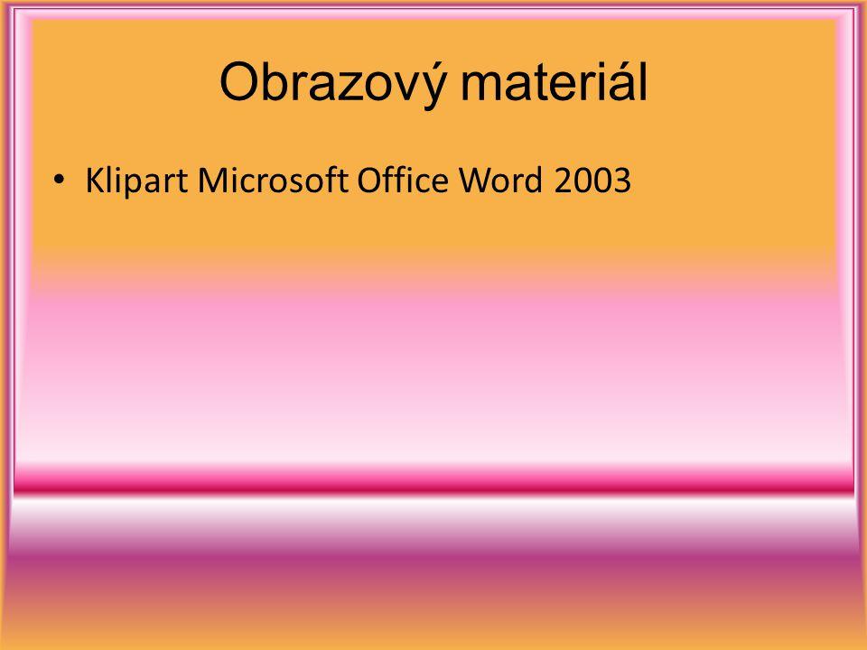 Obrazový materiál Klipart Microsoft Office Word 2003