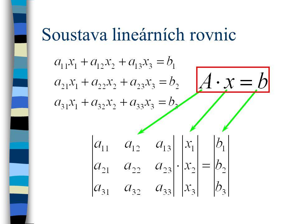 Soustava lineárních rovnic