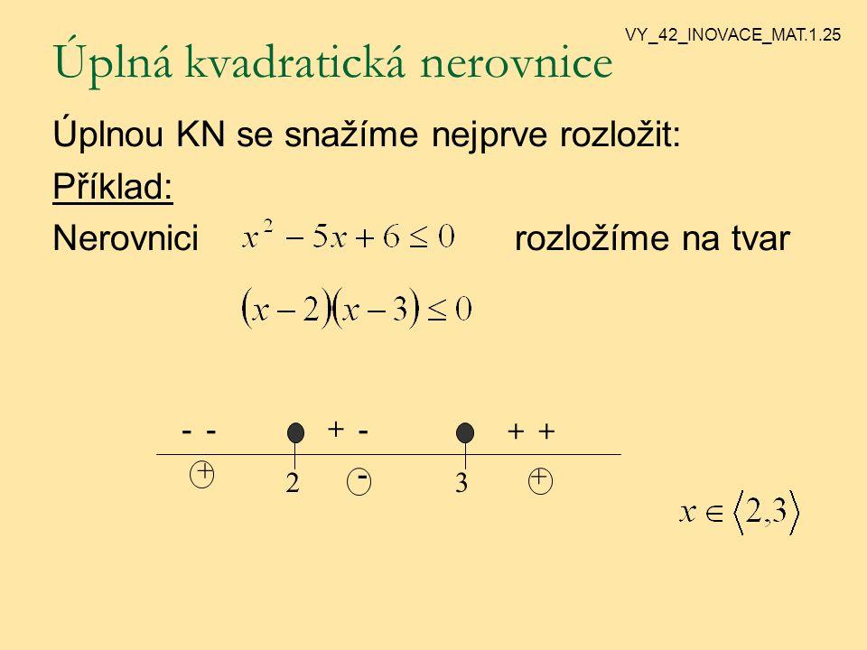 Nelze-li KN rozložit, má buď řešení R, nebo .