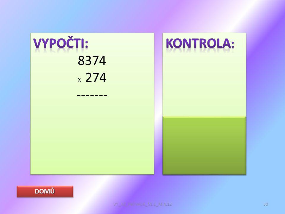 DOMŮ VY_32_INOVACE_S1.1_M.4.1230