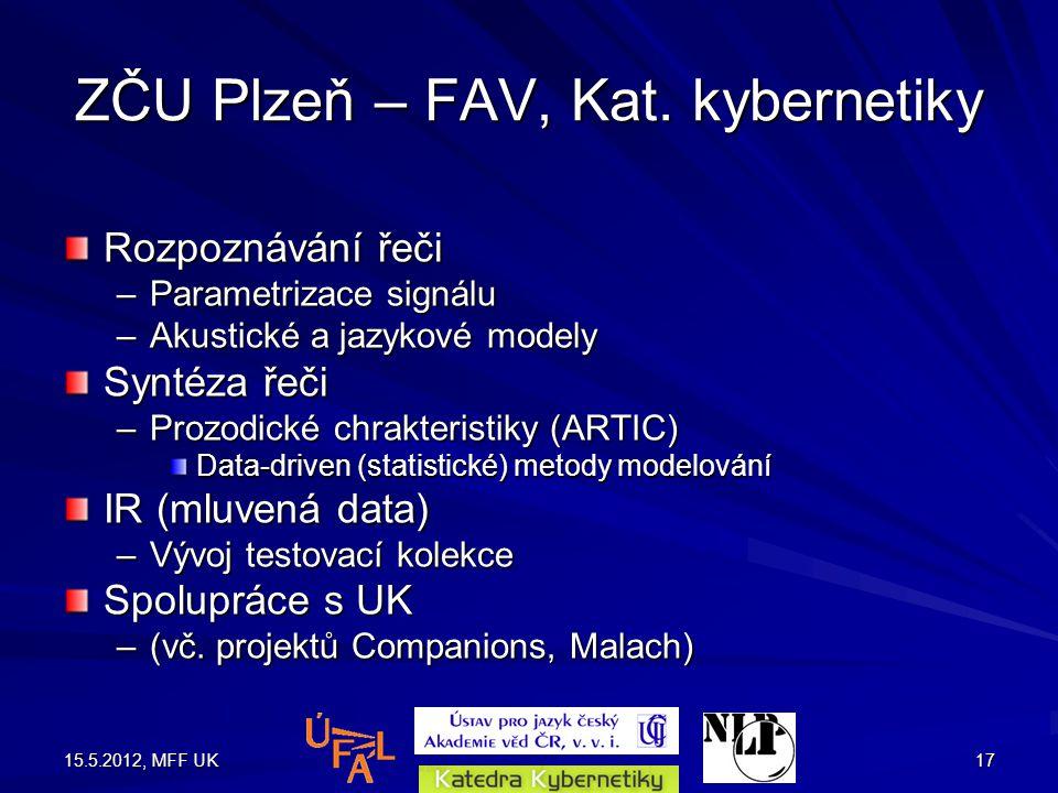 15.5.2012, MFF UK17 ZČU Plzeň – FAV, Kat.