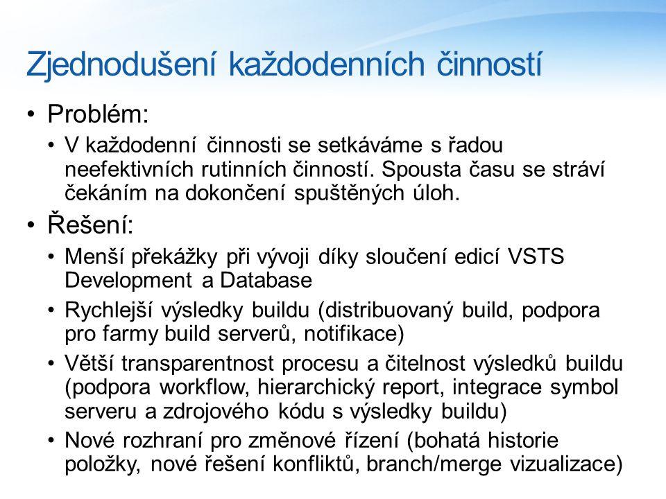 Zjednodušení každodenních činností Problém: V každodenní činnosti se setkáváme s řadou neefektivních rutinních činností.
