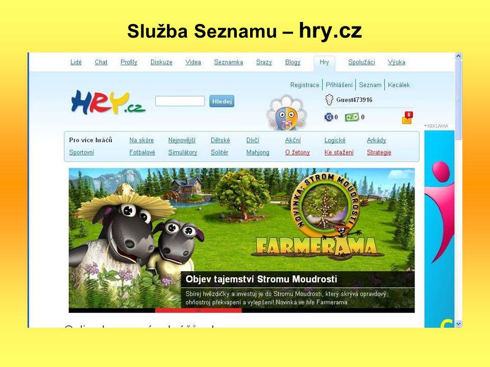 Služba Seznamu – hry.cz