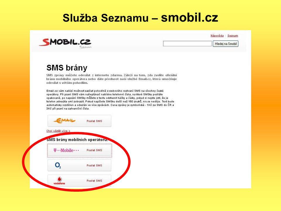 Služba Seznamu – smobil.cz