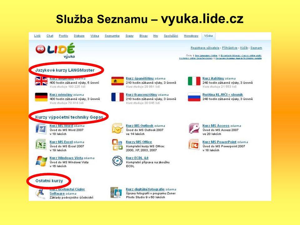 Služba Seznamu – vyuka.lide.cz
