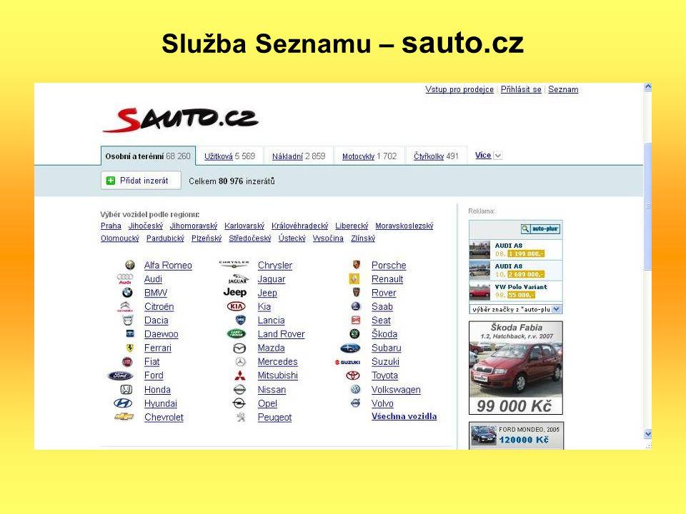 Služba Seznamu – sauto.cz