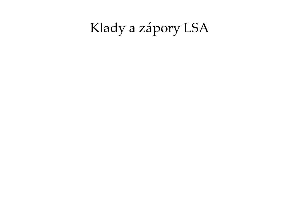 Klady a zápory LSA