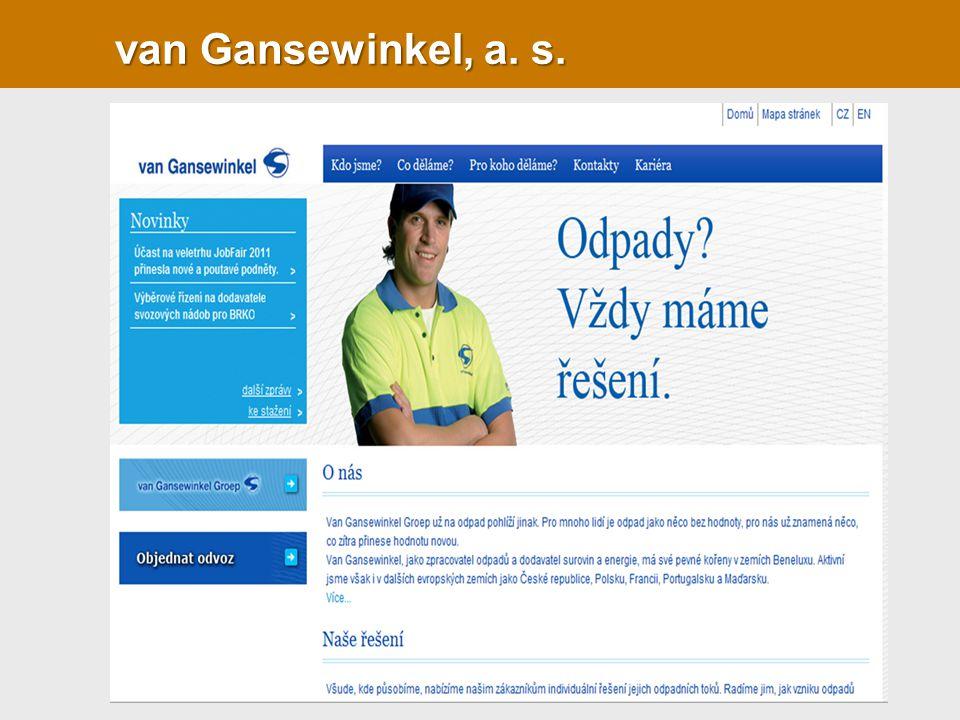 van Gansewinkel, a. s.