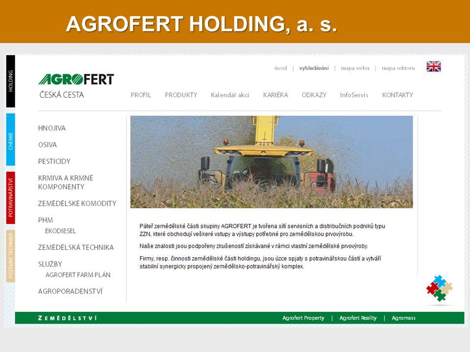 AGROFERT HOLDING, a. s.