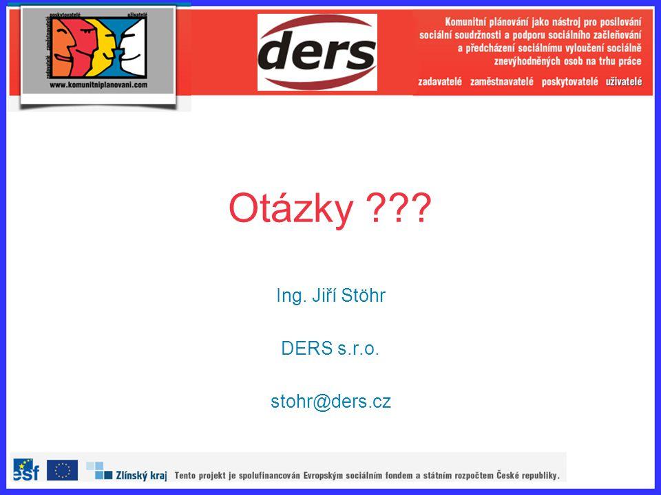 Otázky ??? Ing. Jiří Stöhr DERS s.r.o. stohr@ders.cz