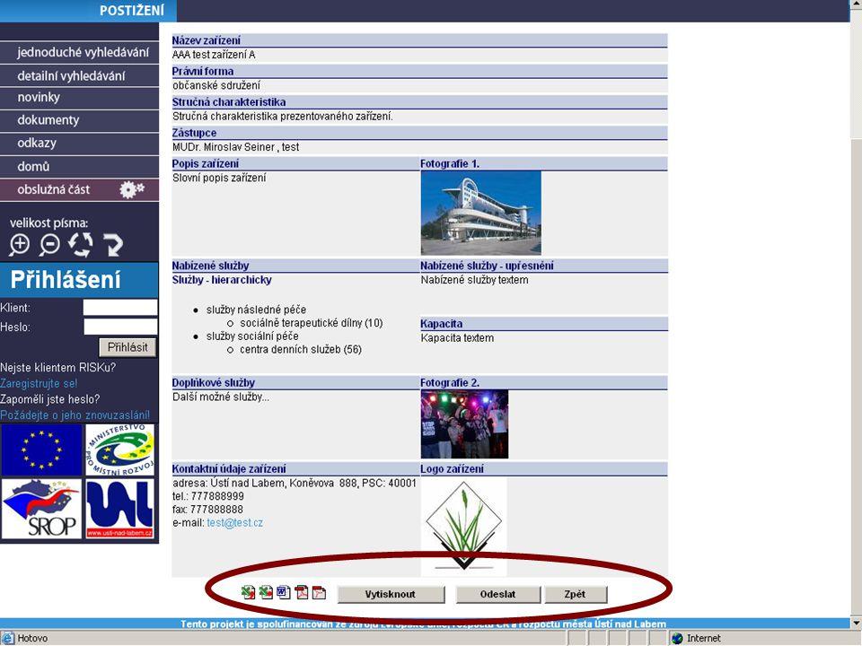 """10 Obslužná část Správa aplikace přes www rozhraní - správce systému - poskytovatel - """"manažer skupiny Vstupy do systému (editace účtů, výkazy) Výstupy ze systému (reporty) Různé role = různé nabídky"""