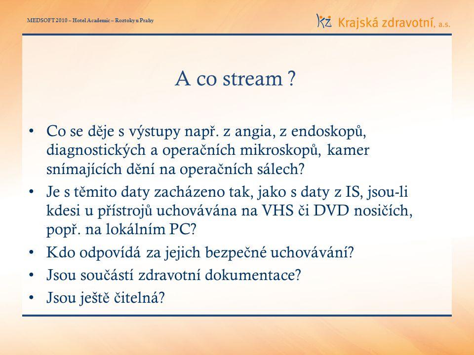 MEDSOFT 2010 – Hotel Academic – Roztoky u Prahy A co stream .