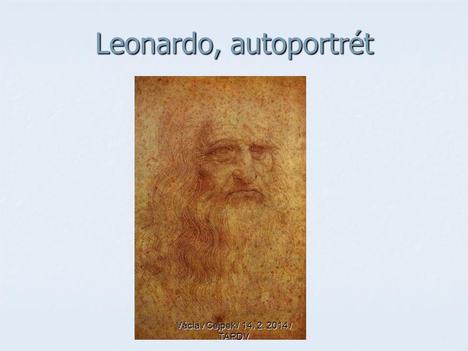 Leonardo, autoportrét Václav Cejpek / 14. 2. 2014 / TAPDV