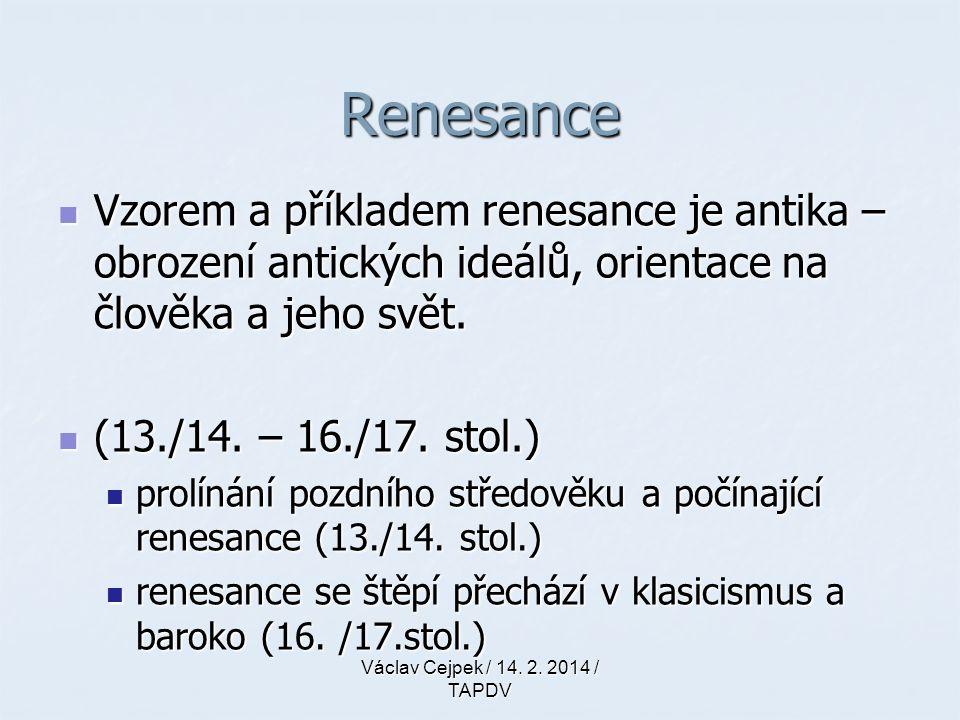 Renesance renesance renesance re-naissance (franc.) re-naissance (franc.) znovu-zrození (obrození…) znovu-zrození (obrození…) Rinascimento (ital.) Rinascimento (ital.) Quatrocento (15.