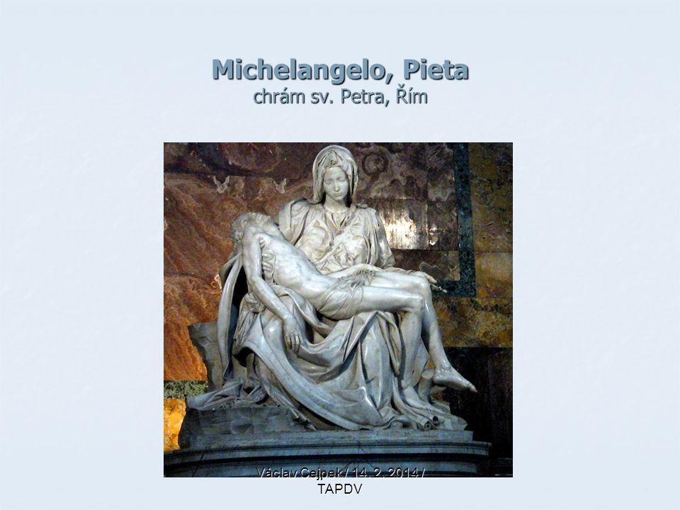 Michelangelo, Pieta chrám sv. Petra, Řím Václav Cejpek / 14. 2. 2014 / TAPDV