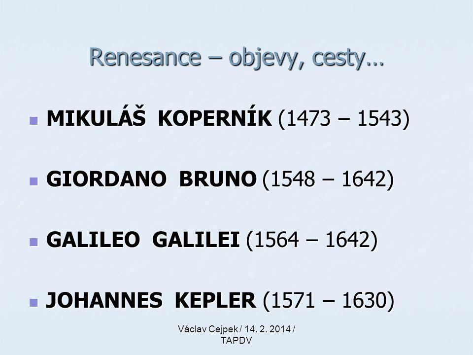 MIKULÁŠ KOPERNÍK (1473 – 1543) MIKULÁŠ KOPERNÍK (1473 – 1543) GIORDANO BRUNO (1548 – 1642) GIORDANO BRUNO (1548 – 1642) GALILEO GALILEI (1564 – 1642)