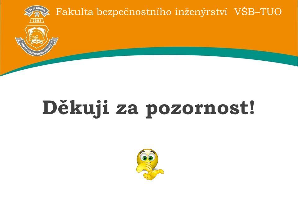 Fakulta bezpečnostního inženýrství VŠB–TUO Děkuji za pozornost!