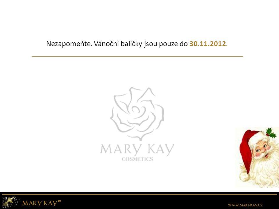 Nezapomeňte. Vánoční balíčky jsou pouze do 30.11.2012.