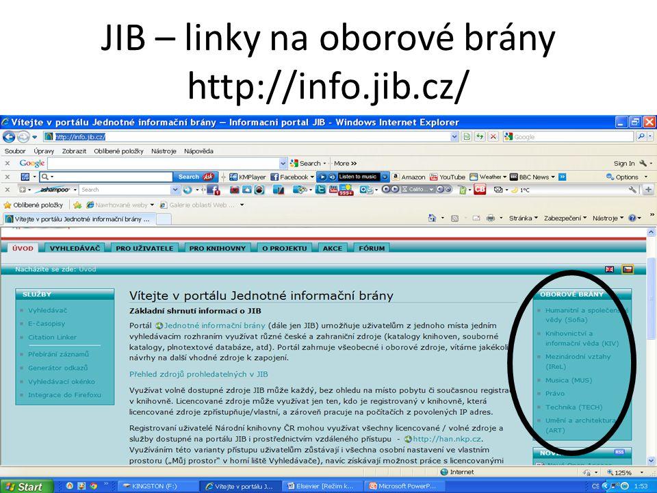 JIB – linky na oborové brány http://info.jib.cz/