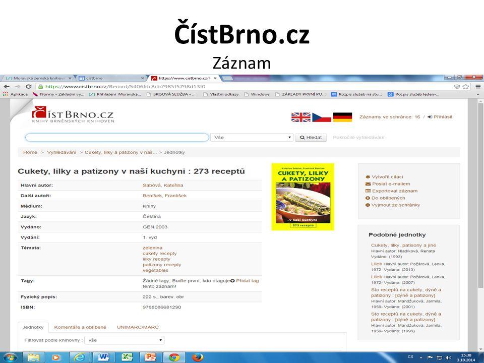 ČístBrno.cz Záznam