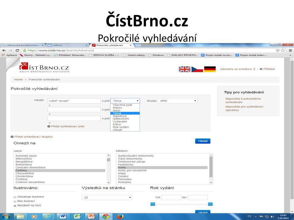 ČístBrno.cz Pokročilé vyhledávání