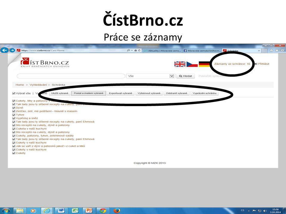 ČístBrno.cz Práce se záznamy