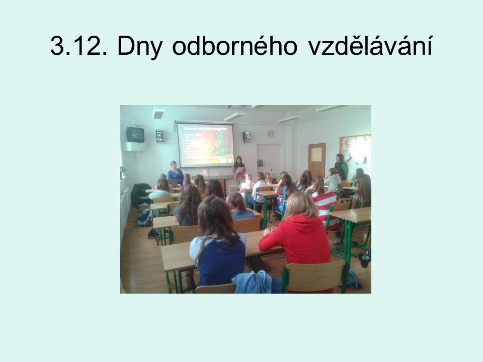 3.12. Dny odborného vzdělávání