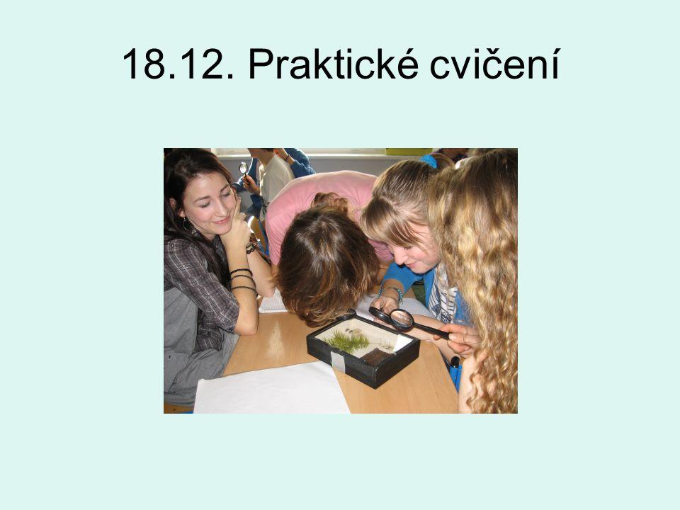 18.12. Praktické cvičení