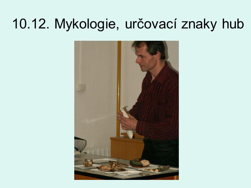 10.12. Mykologie, určovací znaky hub