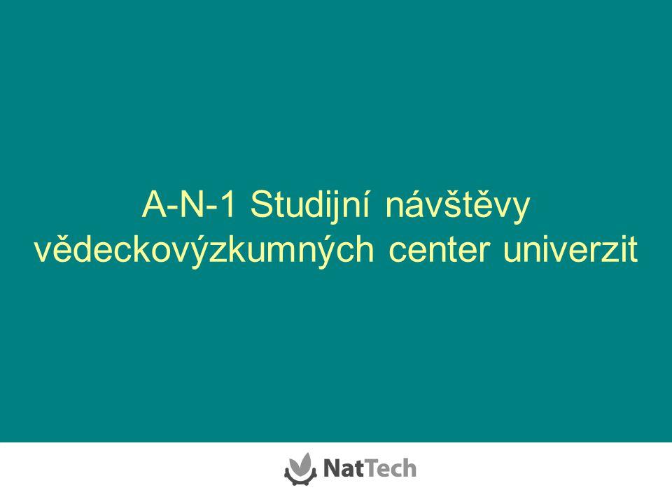 A-N-1 Studijní návštěvy vědeckovýzkumných center univerzit