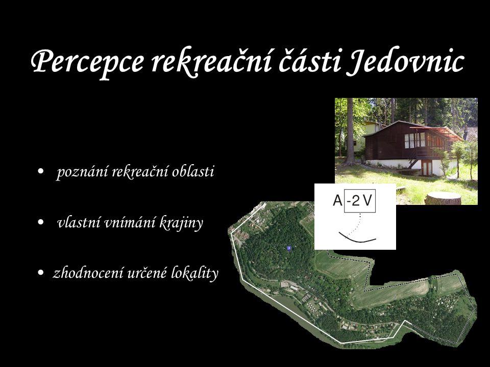 Percepce rekreační části Jedovnic poznání rekreační oblasti vlastní vnímání krajiny zhodnocení určené lokality