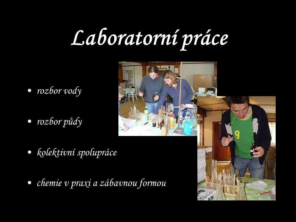Laboratorní práce rozbor vody rozbor půdy kolektivní spolupráce chemie v praxi a zábavnou formou