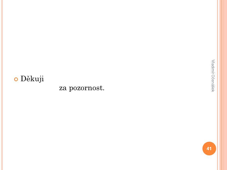 Děkuji za pozornost. 41 Vladimír Očenášek