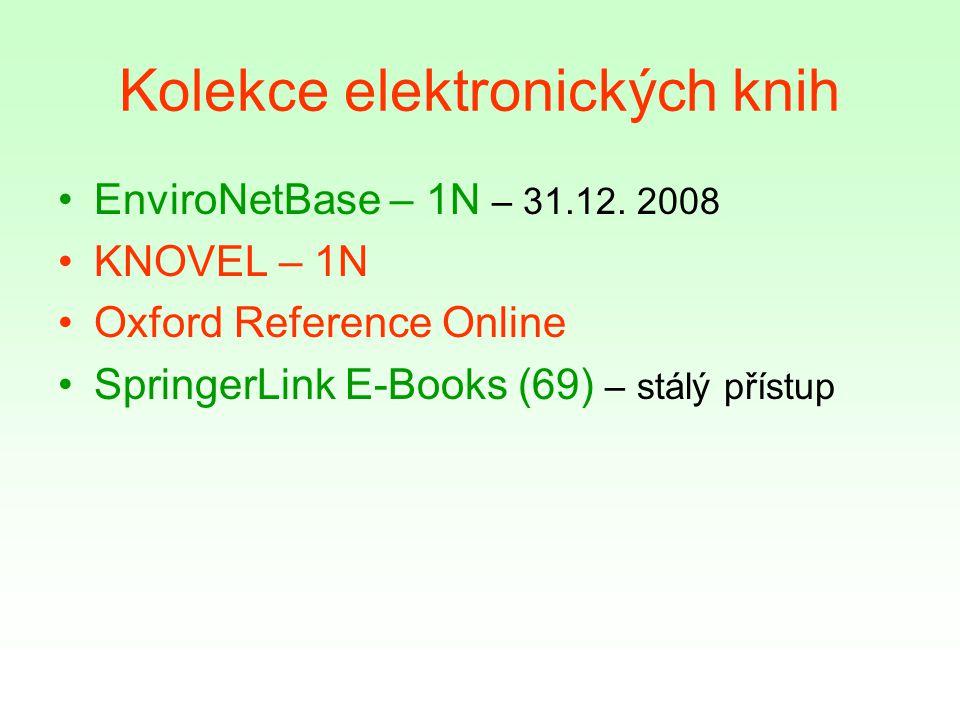 Kolekce elektronických knih EnviroNetBase – 1N – 31.12.