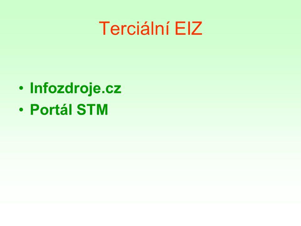 Terciální EIZ Infozdroje.cz Portál STM